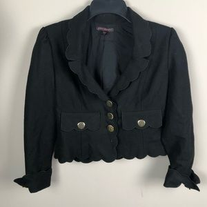Betsey Johnson Black Felt Blazer